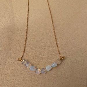 Ethiopian fire opal necklace